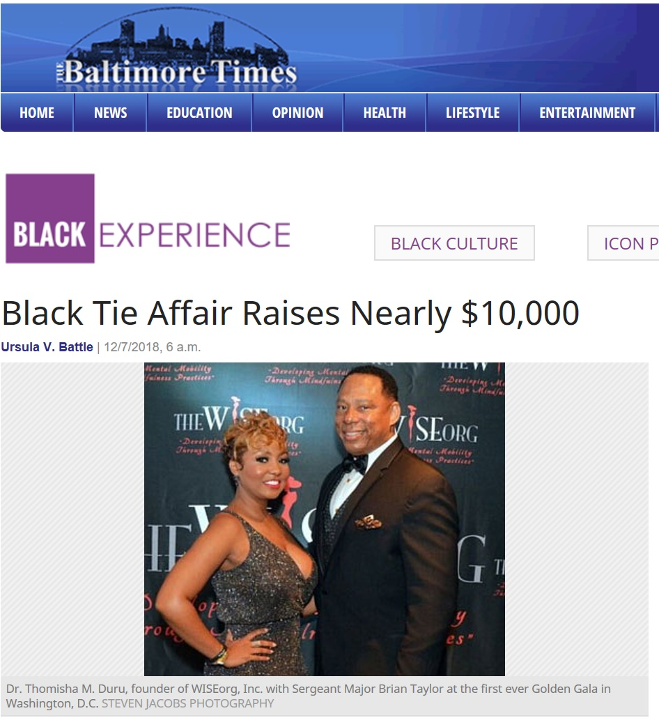 Baltimore Times article for gala
